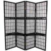 "Oriental Furniture 70.75"" x 69"" Window Pane 4 Panel Room Divider"