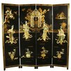 "Oriental Furniture 72"" x 72"" Lady Generals Shoji 4 Panel Room Divider"