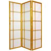 "Oriental Furniture 60"" x 42"" Double Cross Shoji Screen 3 Panel Room Divider"