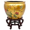 Oriental Furniture Birds and Flowers Vase