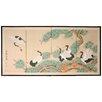 """Oriental Furniture 36"""" x 72"""" Homeward Bound 4 Panel Room Divider"""