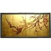 """Oriental Furniture 18"""" x 36 """" Tree on Leaf 4 Panel Room Divider"""