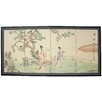 "Oriental Furniture 36"" x 72"" Gift of the Flower 4 Panel Room Divider"