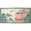 "Oriental Furniture 36"" x 72"" Lovers View 4 Panel Room Divider"