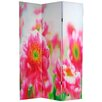 "Oriental Furniture 70.88"" x 47.25"" Summer Flowers 3 Panel Room Divider"