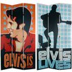 """Oriental Furniture 84"""" x 51"""" Elvis Presley Tall Double Sided Lives 3 Panel Room Divider"""