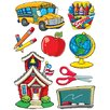 Eureka! More School Supplies Window Cling (Set of 4)