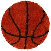 LR Resources Senses Shag Basketball Kids Rug