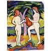 Global Gallery Two Nudes with Jug by August Macke Painting Print on Wrapped Canvas