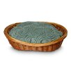 Snoozer Pet Products Luxury Wicker Quasar Robins Egg Dog Basket and Bed