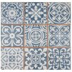 "EliteTile Faventie Azul 13"" x 13"" Ceramic Field Tile in Blue"