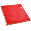 "EliteTile Contour Square 3.75"" x 3.75"" Ceramic Field Tile in Red"
