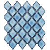 "EliteTile Arabesque 1.87"" x 2.75"" Porcelain Mosaic Tile in Aella"
