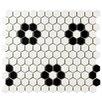 "EliteTile Retro 0.875"" x 0.875"" Porcelain Mosaic Tile in Matte White"
