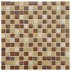 """EliteTile Metal Midtown 0.75"""" x 0.75"""" Porcelain Mosaic Tile in Beige"""