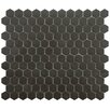 "EliteTile New York 0.875"" x 0.875"" Porcelain Mosaic Tile in Antique Black"