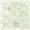 EliteTile Sierra Random Sized Glass and Natural Stone Mosaic Tile in Ming
