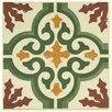 """EliteTile Cementa 7"""" x 7"""" Ceramic Glazed Tile in Trab Centro (Set of 2)"""