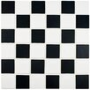 EliteTile Arthur Porcelain Mosaic Tile in Black and White