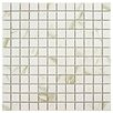 """EliteTile Oxford 0.91"""" x 0.91"""" Porcelain Mosaic Floor and Wall Tile in White"""