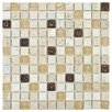 """EliteTile Abbey 0.875"""" x 0.875"""" Glass, Stone and Metal Mosaic Tile in Glouster Glass"""