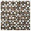 EliteTile Commix Glass and Aluminum Mosaic Tile in Noir