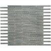 "EliteTile Metallic 3.875"" x 0.375"" Stainless Steel, Ceramic Mosaic Tile in Silver"