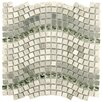 """EliteTile Sierra 0.625"""" x 0.625"""" Glass, Natural Stone and Metal Mosaic Tile in Gray"""