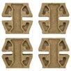 "EliteTile Milton 1.2"" x 1.2"" Medallion Mosaic Pin Insert Wall Tile in Banner Noce Travertine"