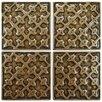 "EliteTile Milton 2"" x 2"" Tozetto Medallion Floor and Wall Insert Tile in Bronze"