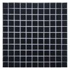 "EliteTile Retro 1"" x 1"" Porcelain Mosaic Tile in Matte Black"