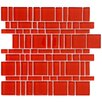 EliteTile Sierra Random Sized Glass Mosaic Tile in Magic Carnelian