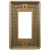 EliteTile Milton Greek Key 1-Gang Decora Wall Plate in Bronze