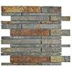 EliteTile Peak Grand Piano Random Sized Slate Mosaic Tile in Sunset