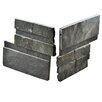 """EliteTile Piedro 7"""" x 7"""" Natural Stone Corner Tile Trim in Black"""