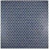 "EliteTile Penny 0.75"" x 0.75"" Porcelain Mosaic Tile in Smoky Blue"