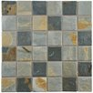 """EliteTile Arriba 1.85"""" x 1.85"""" Porcelain Mosaic Floor and Wall Tile in Slate Brown and Gray"""