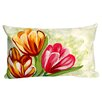 Liora Manne Tulips in Warm Indoor/Outdoor Lumbar Pillow
