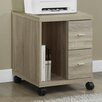 Monarch Specialties Inc. Mobile Printer Stand with 2 Drawer