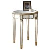 Monarch Specialties Inc. Mirrored Scalloped End Table