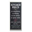 Stupell Industries Kitchen Rules Chalkboard Look Typography Wall Plaque