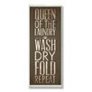Stupell Industries Green Queen of the Laundry Typography Wall Plaque
