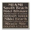 Stupell Industries Miami Landmarks Typography Square Wall Plaque