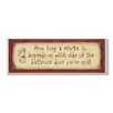 Stupell Industries How Long a Minute is…Rectangle Typography BathroomWall Plaque