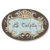 Stupell Industries La Toilette Crest top Oval Bathroom Wall Plaque
