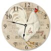 """Stupell Industries 12"""" Le Coq Rooster Vanity Clock"""