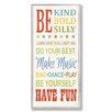 Stupell Industries The Kids Room Be Kind and Silly Typography Skinny Rectangle Wall Plaque