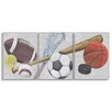 Stupell Industries The Kids Room 3 Piece Sports Balls Triptych Wall Plaque Set