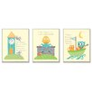 Stupell Industries The Kids Room 3 Piece Nursery Rhyme Classics Triptych Wall Plaque Set