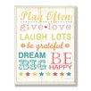 Stupell Industries The Kids Room Play Fair Give Love Typography Wall Plaque